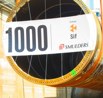 Smulders Projects produceert 1000ste transition piece