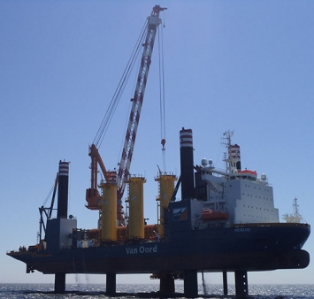 First monopile for the Gemini Wind Park successfully installed