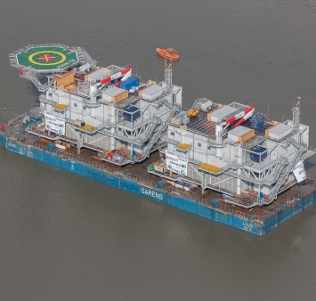 Gemini's two HV offshore substations sail out