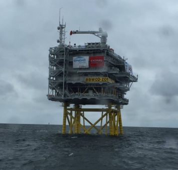 Offshore installation Burbo Bank