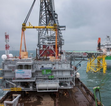 Offshore-Installation Merkur Umspannplattform