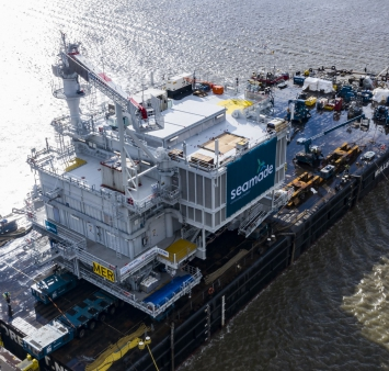 First of SeaMade's two offshore substations sets sail to the Belgian North Sea