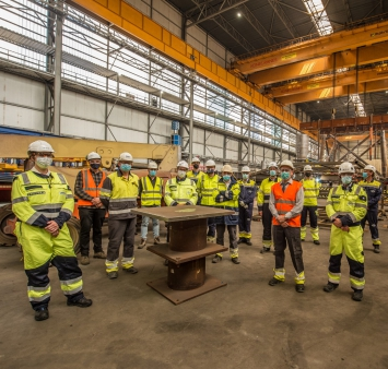 Smulders and ENGIE Solutions kick off topside fabrication of TenneT project Hollandse Kust (west Alpha)
