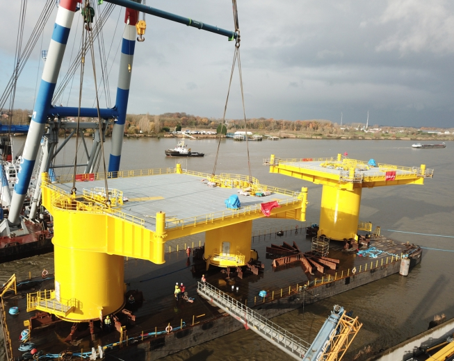 steel foundations and substations for offshore wind farms smulders